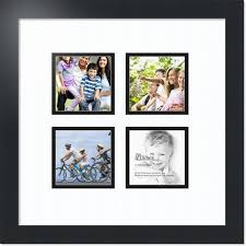 arttoframes collage mat picture photo frame 4 4x4 openings in satin black 6