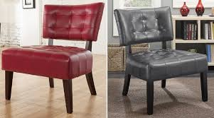 furniture under 100 dollars. roundhill furniture blended leather tufted accent chair - cheap chairs under 100 dollars d