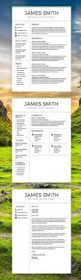 Classic Resume Professional Resume Template For Word Pages 2