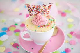 Celebration Vanilla Mug Cake Recipe Gemmas Bigger Bolder Baking