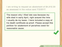 3 Ways To Write A Letter To The Irs Wikihow