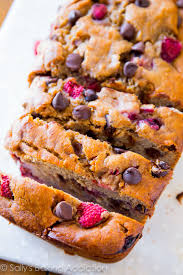 sub gluten free flour super moist and incredibly indulgent brown sugar banana bread with juicy raspberries and dark chocolate chips
