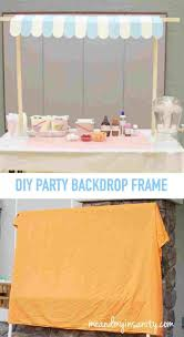 by minted and rh vine diy backdrop stand for dessert table ice cream parlor party by