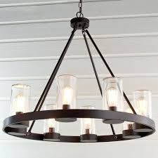 living outdoor hanging solar chandelier decorating room with