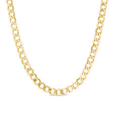 men s 7 0mm light curb chain necklace in 14k gold