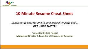 10 Minute Cheat Sheet Video On Vimeo