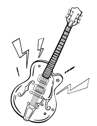 Small Picture Free Guitar Coloring Page