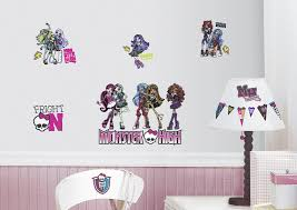 monster high wall decals roommates monster high l and stick wall decals