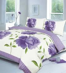 Rosaleen Printed Duvet Quilt Cover Bedding Set | Lilac — Linens Range & rosaleen lilac quilt cover Adamdwight.com