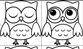 Plush Design Ideas Easy Owl Coloring Pages Free Coloring Website