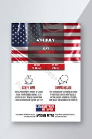4th July American Independence Day Program Flyer Template
