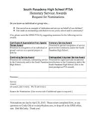 Pretty Nomination Form Template Photos Employee Award Online