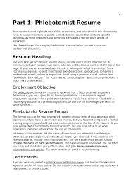 Phlebotomy Resume No Experience Resume Sample Resume Skills