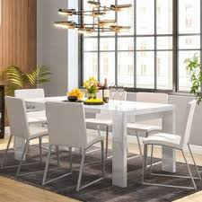 dinner table set for 6. kariba - delphine 6 seater high gloss dining table set (white, white dinner for
