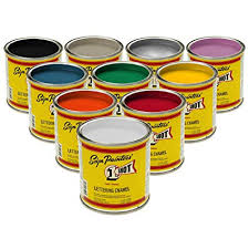 One Shot 1 Lettering Pinstripe Paint 10 Primary Color Kit