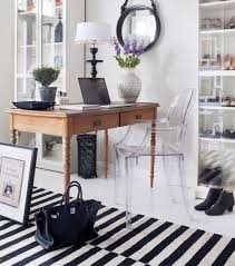 chic office space. ghost chair in a chic office space