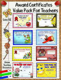Printable Awards And Certificates 66 Printable Award Certificates Value Pack For School Teachers