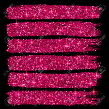 Cool Pink And Black Background Vector Pink Glitter Brush Strokes Set Isolated At Black Background