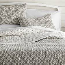 Raj Reversible Grey Quilts and Pillow Shams | Crate and Barrel & Raj Reversible Grey Quilts and Pillow Shams Adamdwight.com