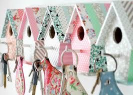 simple homemade diy birdhouse key holder gift idea for girls