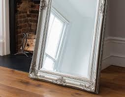 silver floor mirror. Silver Floor Mirror Large I