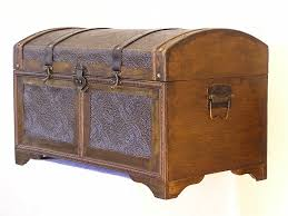 Rounded Top Victorian Trunk, Nostalgic Steamer Trunk