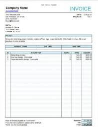 Service Invoice Template Excel Interesting 48 Free Service Invoice Templates [Billing In Word And Excel]