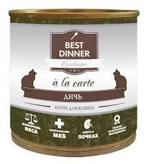 Корм для <b>кошек</b> Best Dinner A <b>la</b> Carte для <b>кошек</b> Дичь (0.24 кг) 12 ...