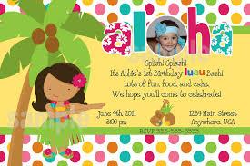 printable luau birthday invitations sle