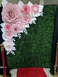Paper Flower Backdrop Rental Paper Floral Wall Jalaff Co