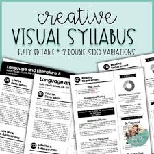Visual Syllabus Template Pack 1 Creative Editable By