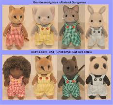 Sylvanian Families Clothes For  PAIR DUNGAREES FOR DAD Or BOY - Swivel classy sylvanian families living room set