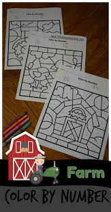 Farm puzzle coloring pictures, worksheets for your child. Free Farm Color By Number