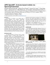 Function Of Light Source In Spectrophotometer Pdf Apd Spectbt Arduino Based Mobile Vis Spectrophotometer