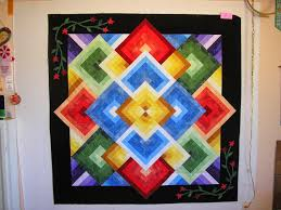 Creative Quilting by Debbie Stanton: Ghost Images & I could feather the space, but I already envisioned a funky feather in each  of the color block areas. So, how about copying the star vine into the  space in ... Adamdwight.com
