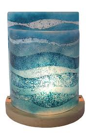 large table lamp blue