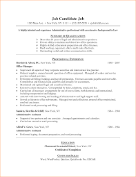 Gallery Of 7 Example Of A Resume For First Job Basic Job