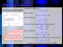 19 charging a capacitor charging derivation