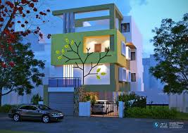 Latest Residential Bungalow Elevations  Arystudios - Modern apartment building elevations