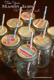 Decorative Jars With Lids Decorative Mason Jar Lids with Cute Straws 48