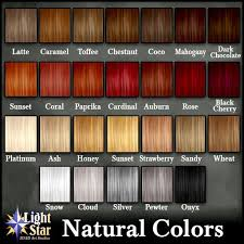 Natural Red Hair Chart Lightstar Hair Lyna Natural Colors Red Hair Color Hair