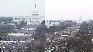trump inauguration crowd size fox inauguration crowds are looking puny compared to womens march crowds