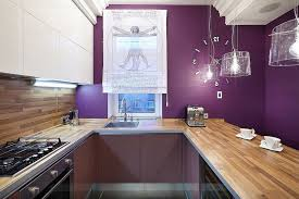 dark purple furniture. Contemporary Kitchen In Wood And Dark Purple Is A Showstopper Furniture .