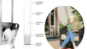 petsafe freedom aluminum patio panel sliding glass pet door the allows your dog or cat to petsafe freedom