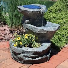 Garden Fountains  Solar Or Corded  GardenerscomSolar Garden Fountain