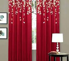 red blackout curtains eyelet living room bedroom black and for best red curtains