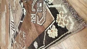 brown and cream rug vintage carpet handmade oriental rug brown rug taupe cream fine green brown