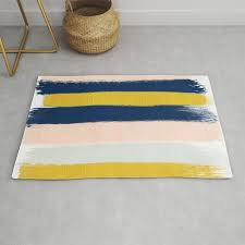 stripes minimal trendy color palette gold silver metallic minimal home decor rug