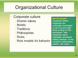 Southwest Airlines Organization Chart Organizational Culture Corporate Culture Shared Values