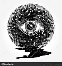 иллюминат тату все видя глаз в космосе среди звезд тату искусства